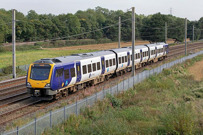 195105 Winwick Junction 15/9/2020<br /> 1E66 1422 Chester-Leeds