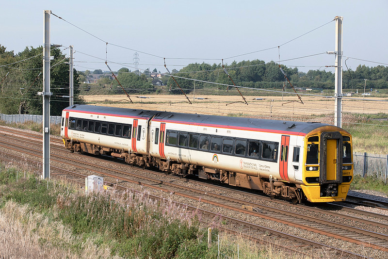 158832 Winwick Junction 15/9/2020<br /> 1D38 1335 Manchester Airport-Chester