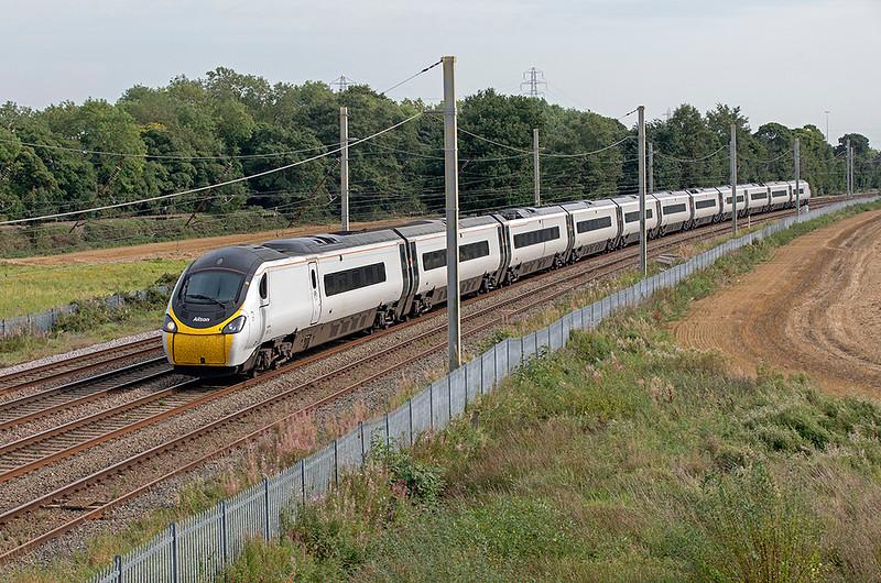 390115 Winwick Junction 15/9/2020<br /> 1S69 1310 London Euston-Glasgow Central