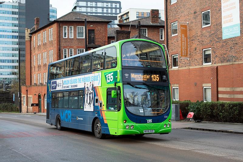 3233 MX58DZR, Manchester 17/12/2020