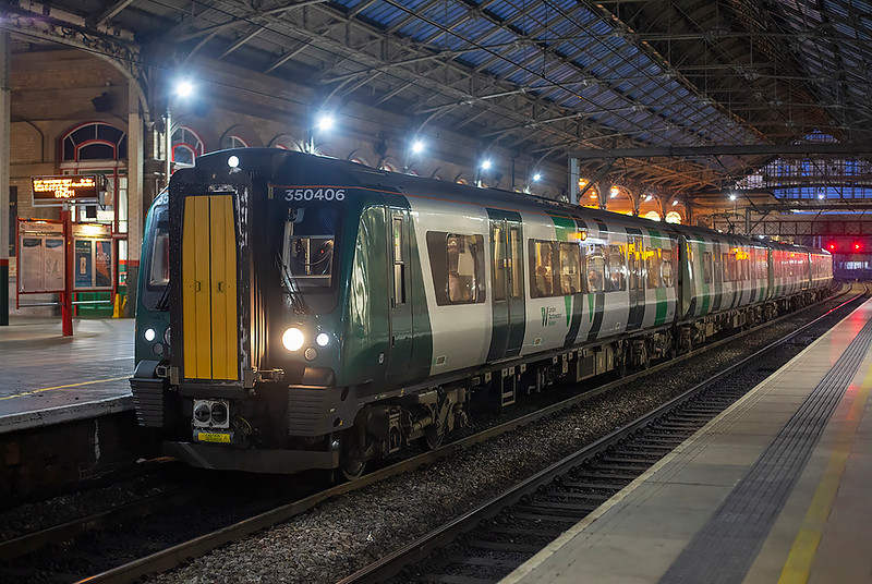 350406 Preston 20/1/2020<br /> 1M90 0422 Glasgow Central-Manchester Airport