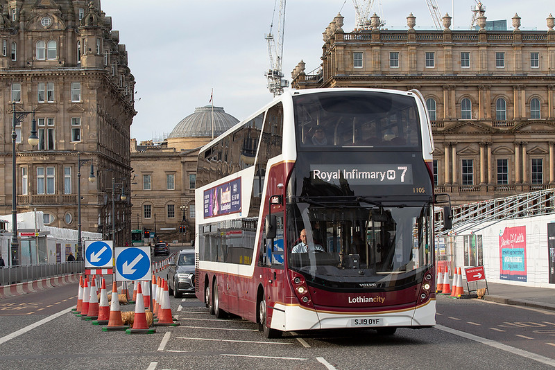 1105 SJ19DYF, Edinburgh 21/3/2020