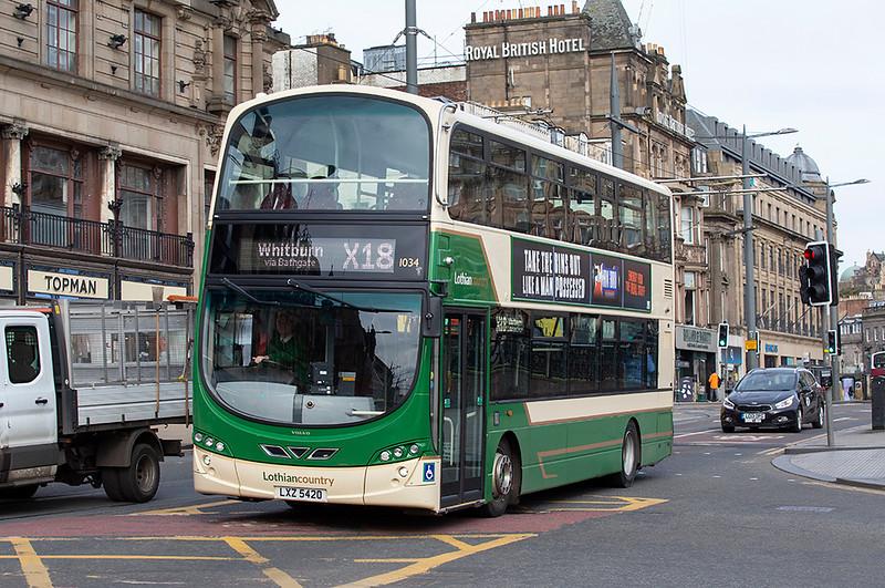 1034 LXZ5420, Edinburgh 21/3/2020