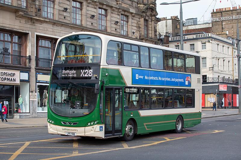 594 LP11YBB, Edinburgh 21/3/2020