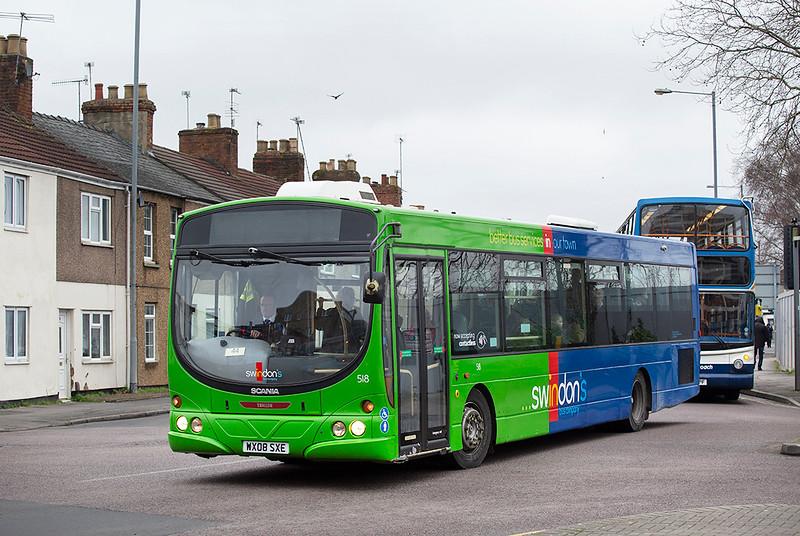 518 WX08SXE, Swindon 31/1/2020