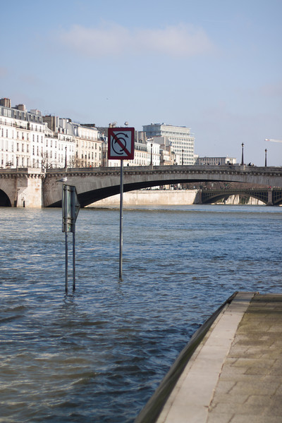 The Seine is quite high lately