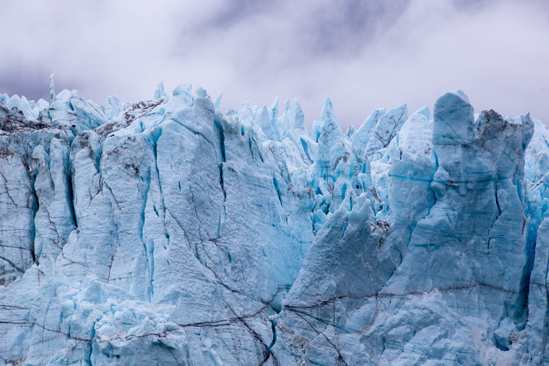 Close-up Look of the Grand Pacific Glacier in Glacier Bay National Park, Alaska