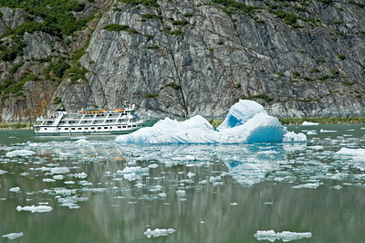 Iceberg - next to ship - Tracy Arm, AK