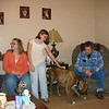 Visiting Amber's house on Christmas Eve. Daddy, Rebel, Caitlyn, Chelsea and part of Caleb.