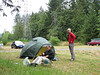 breakfast at campsite 1 North of Lilliwaup (road 101)
