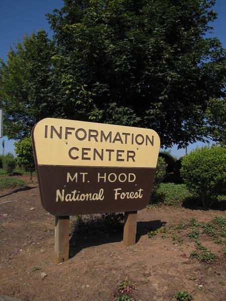 sign Mount Hood National Forest