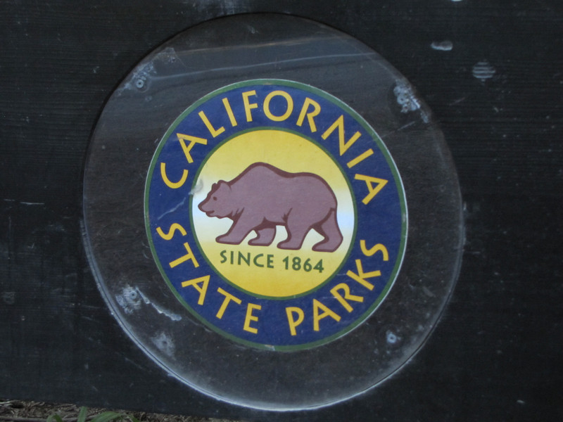 Sign of Californian State Parks in Redwoods National Park