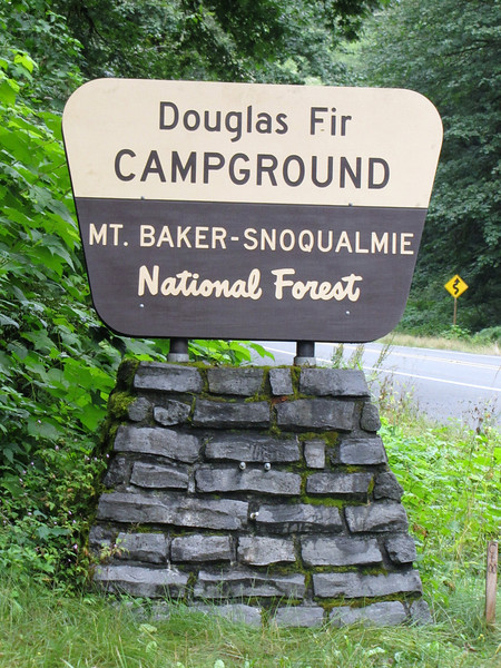 campground Douglas Fir, Mount Baker-Snoqualmie national Forest, Washington