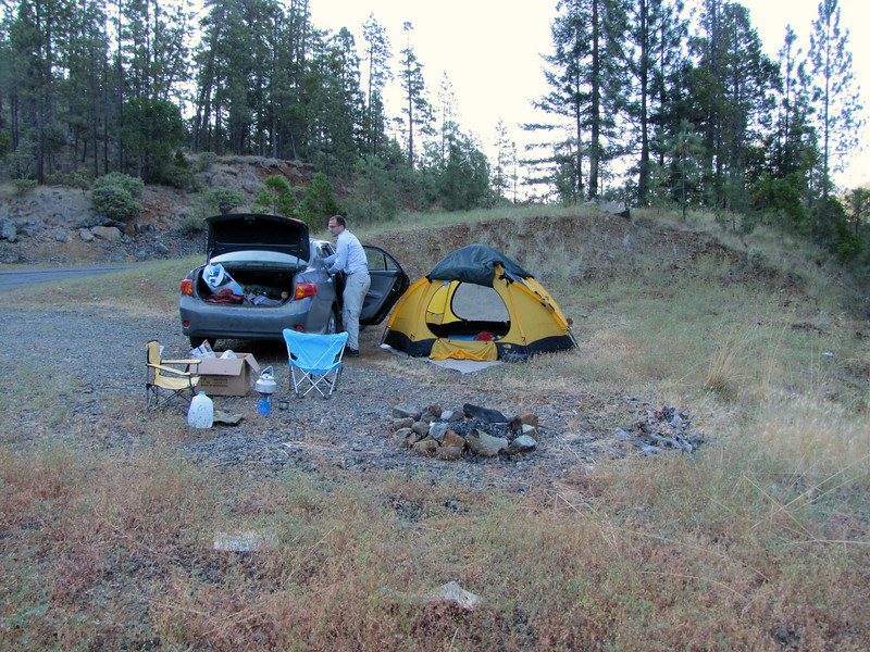 camp place West of Cave Junction (road-junction 199) near Illinois River State Park, WA