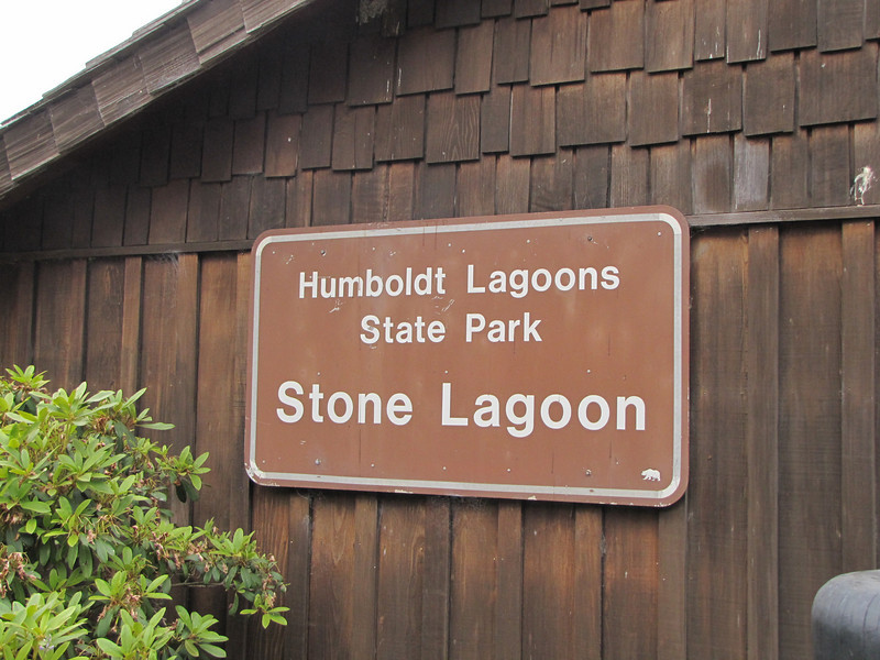 Sign of Stone Lagoon in Humboldt Lagoons State Park