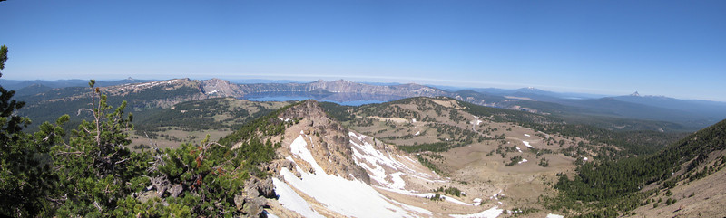 view from Mount Scott 2721m, highest point in Crater Lake National Park