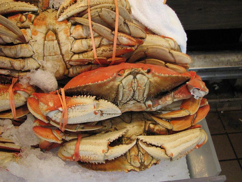 Cooked Dungeness Crab, Pike Plase Fish Market, Seattle, Washington(photo Kees Jan)