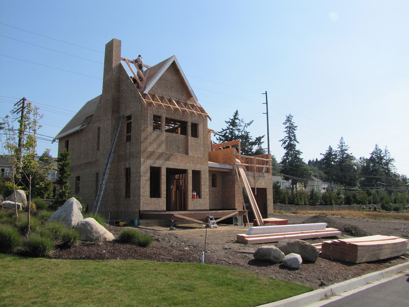 house made of wood (near Annacortes, Washington)