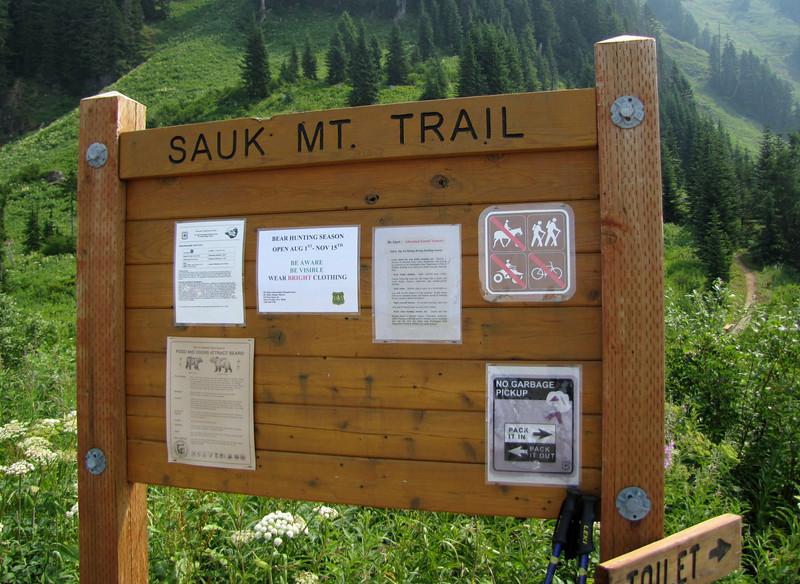 Sauk mountain trail, North Cascades National Park, Washington)