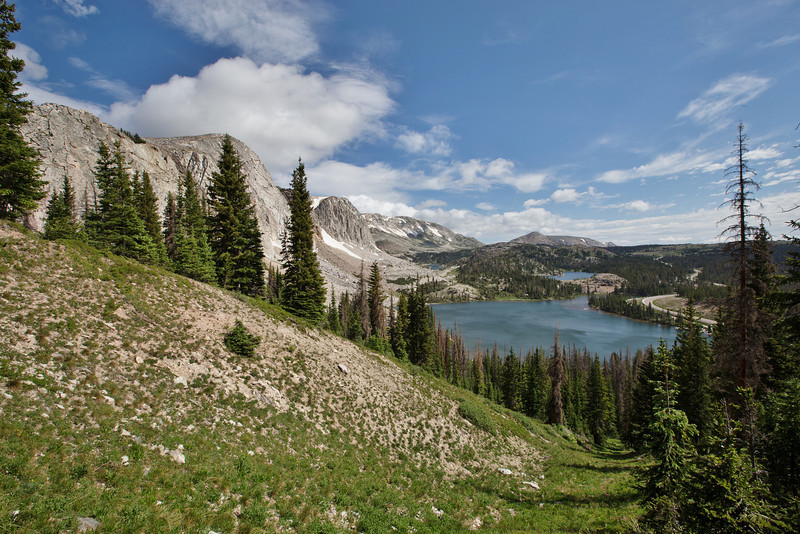 Medicine Bow Mountains with Lake Marie, Medicine Bow National Forest.