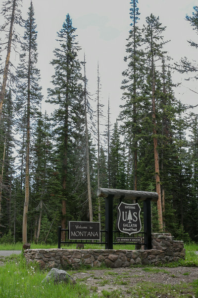 Sign Gallatin National Forest