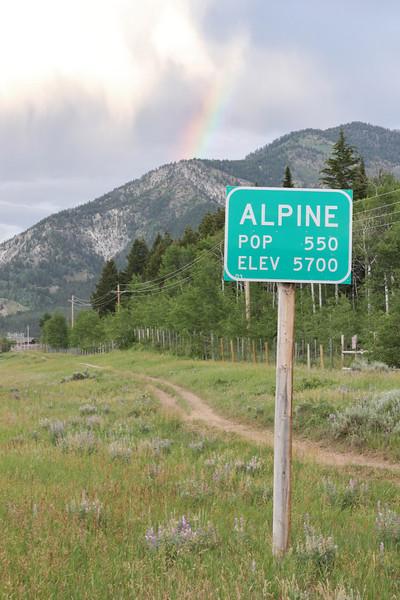 Alpine village, WY