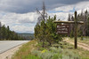 State sign of Colorado. Medicine Bow National Forest.