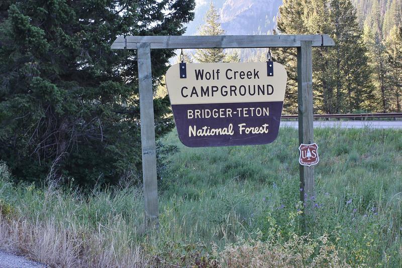 Campground Wolf Creek, Bridger-Teton National Forest