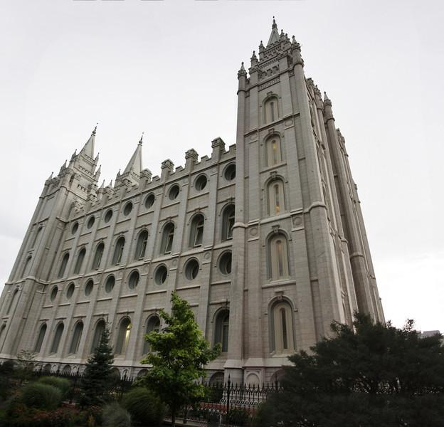 The Salt Lake Temple, 1853, Mormon Church, Temple Square, Salt Lake City, UT.