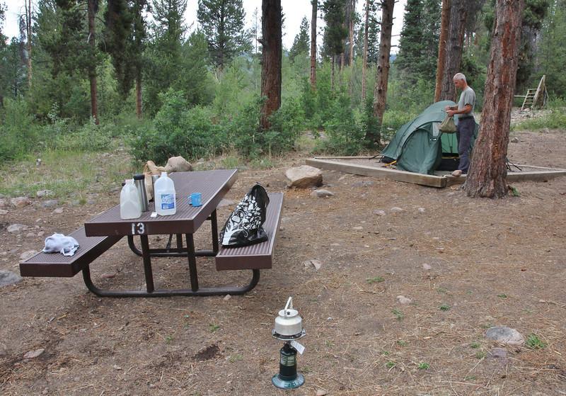Campground Yellow Pine, E of Kamas, UT.