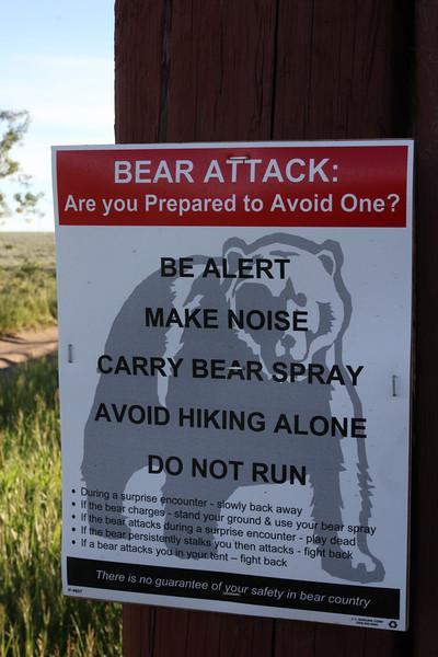 Warning sign at Teton National Forest