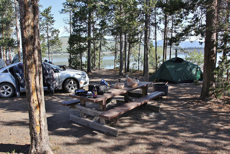 Camp at Lee Metcalf Wilderness area, near Hebgen Lake, N of West Yellowstone entrance