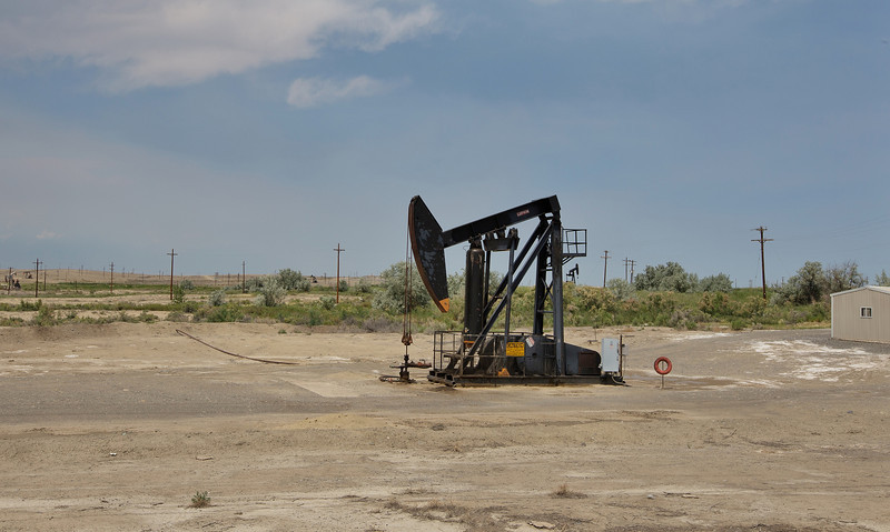 Grasshopper, oil pumping unit, Powell, WY.