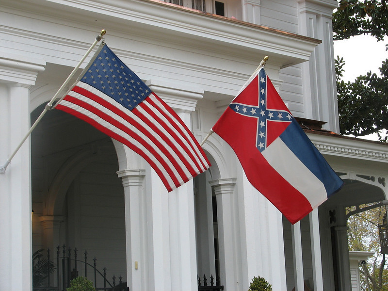 USA and MS flags