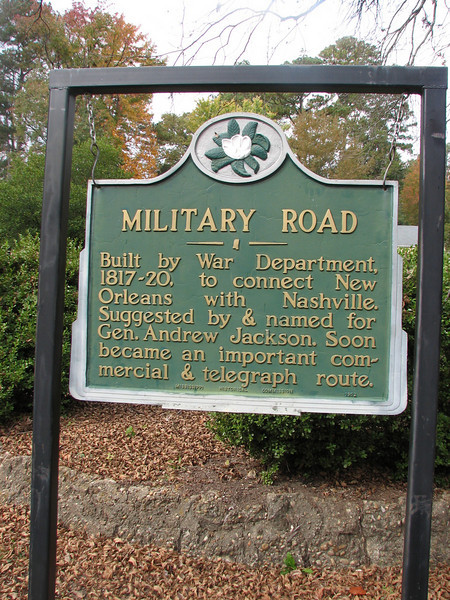 the old Military Road in Columbus (1817 - 1820)