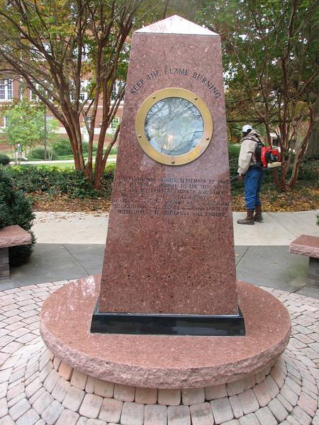 """keep the flame burning"" (Mississippi State University)"