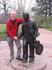 Elvis statue, 13 years old (Tupelo, MS)