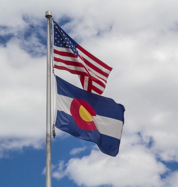Flags, USA and Colorado