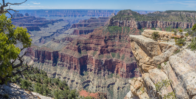 View from the North- to the South Rim