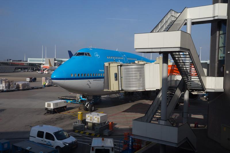 Flight KLM Amsterdam-Houston