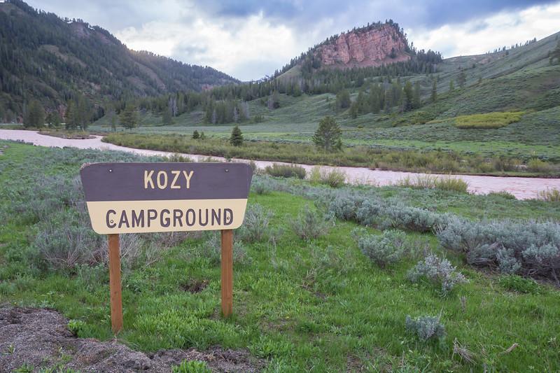 Kozy campsite, Snake River