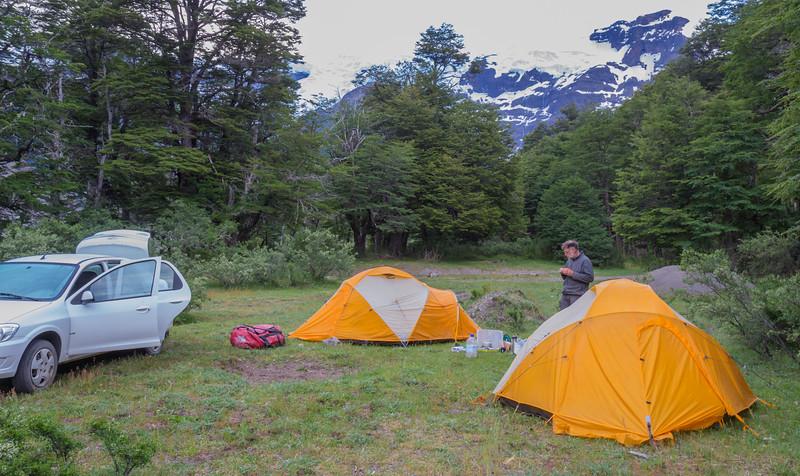 Camp near Cerro Tronador