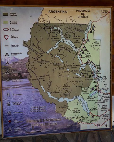 Map of P.N. Los Alerces