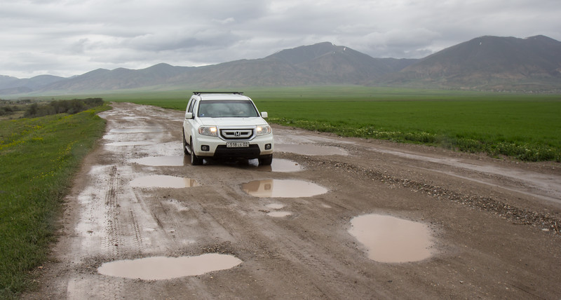 Poor roads of Armenia