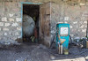 failure of electricity. petrol filling jerry can and funnel