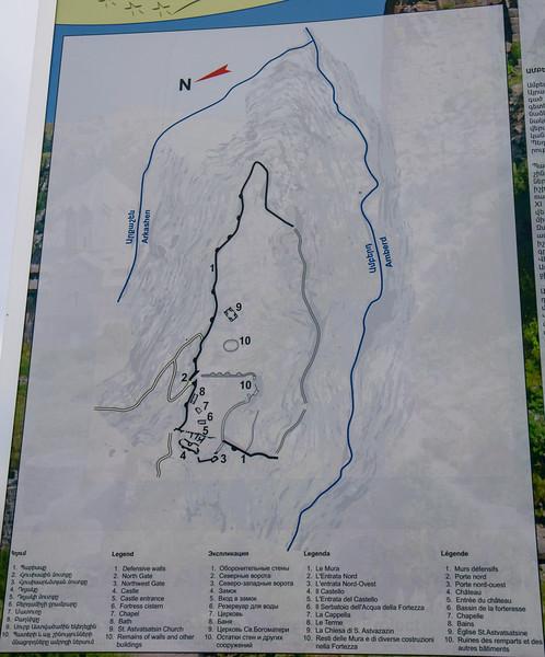Map Amberd castle