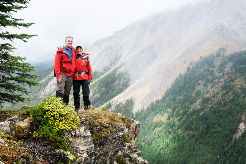 This is Jack and Jan.  They are return visitors to the lodge, up from Chicago.  Another great couple who were a blast to hike with.  Claude had offered to take their picture for them while we were up on Chuck's ridge, and I snuck a couple as well.