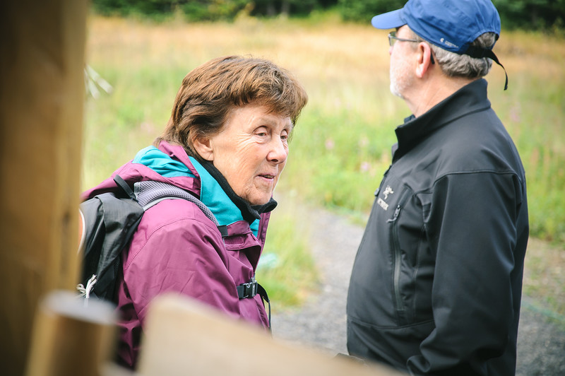 I love to photograph people, so I was having fun when we were gathered outside preparing to head out on our hikes.  As mentioned in the last photo, we didn't get to know this lady as well as some other guests, but a very nice woman nonetheless.  David (Monica's husband) is seen here in the background as well.