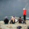 If you look close, those clouds that rolled in brought snow.  I believe the discussion here was about getting up to Marvel Pass.  Heidi (in the red sitting down) was an avid adventurer and great person as well.  She kept Christian on his toes with potential excursions beyond what the group was doing, and I couldn't blame her.  From this vantage point, Marvel Pass looked beautiful.  It was Heidi and her sister who were the drivers behind the crazy card game with Christian I had mentioned earlier (which I'll just throw out there that Annalise and I ended up winning some how).