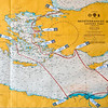 Map of our trip through the Eastern Mediterranean.  We began in Athens, Greece and ended in Istanbul, Turkey with many stops along the way.